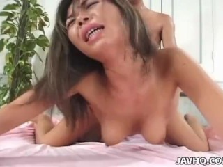 Brunette Asian Chick Enjoys Sweaty Sex And Rough Handling